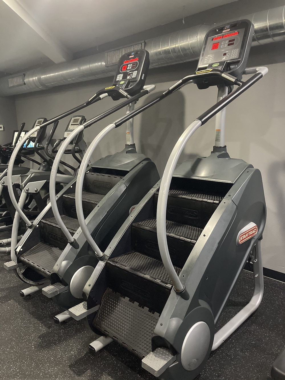 Image of stair master, a cardio equipment found in the Forge 24/7 gym in South Tampa