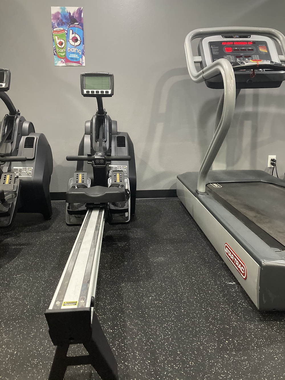 Image of a rower machine used for cardio. Found in the best gym in South Tampa.