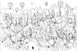 Maze. Cappadocia inspired