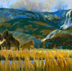 Mammoths Grazing