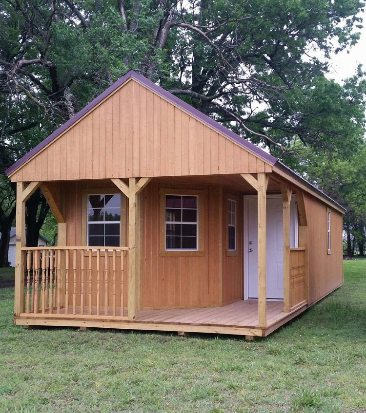 12x28 Swiss Cabin with Deluxe Porch