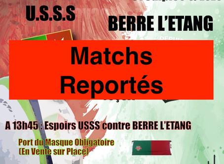 Matchs Séniors et Espoirs ce Dimanche à Gaston Sauret (Reportés)