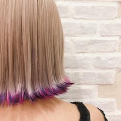【お客様スタイル】_毒っ気すら可愛さに🍄_半歩先行くヘアスタイルを。_1cm裾