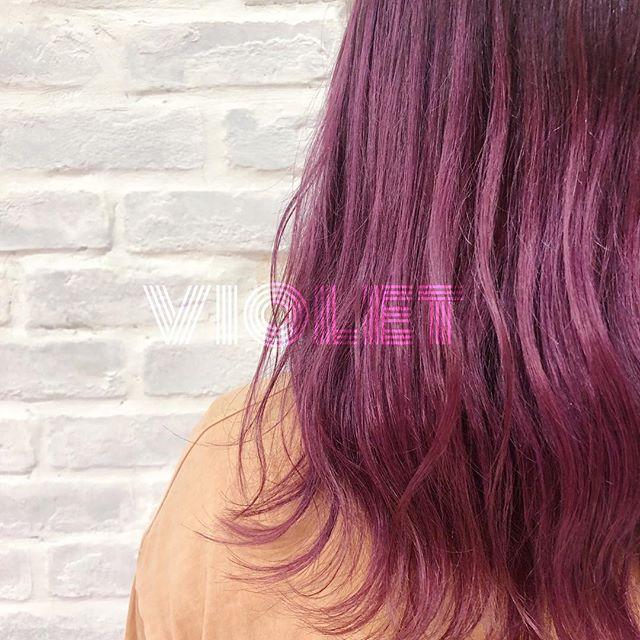 【お客様スタイル】_スミレバイオレット💐_髪にイロドリを添えて。_気分は春。_