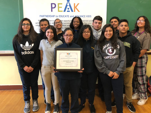 PEAK Receives Mentoring Award