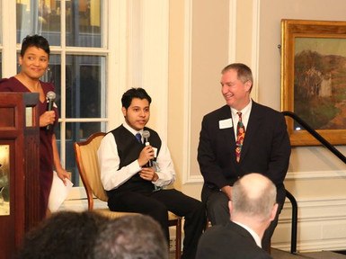 PEAK Mentor Fred O'Connor and Scholar Ernie Chavez Win Match of the Year Award