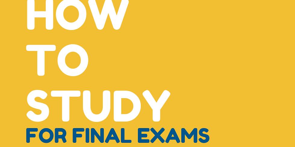 Mentor-Scholar Event: How to Study for Final Exams