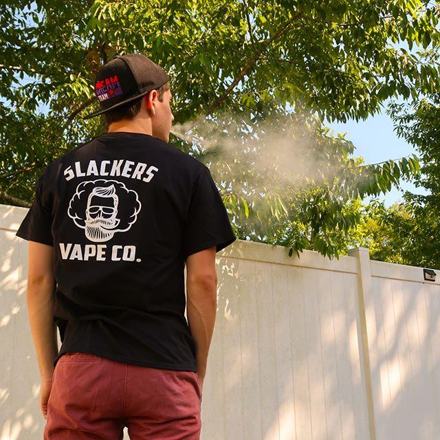 _raaraa_slackers wearing our new store tee's✌️ #slackersvapeco #vapenation #creamteam #vapefam #vape