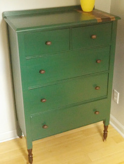 Vintage Emerald Dresser