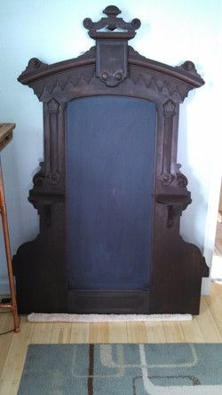 Antique Mirror upcycled Chalkboard