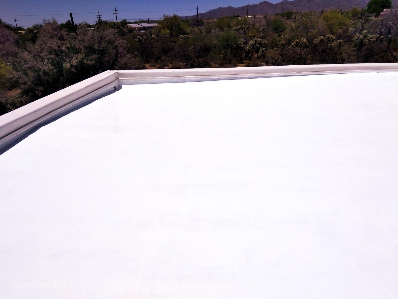 Tile Repair + Flat Roof Coating
