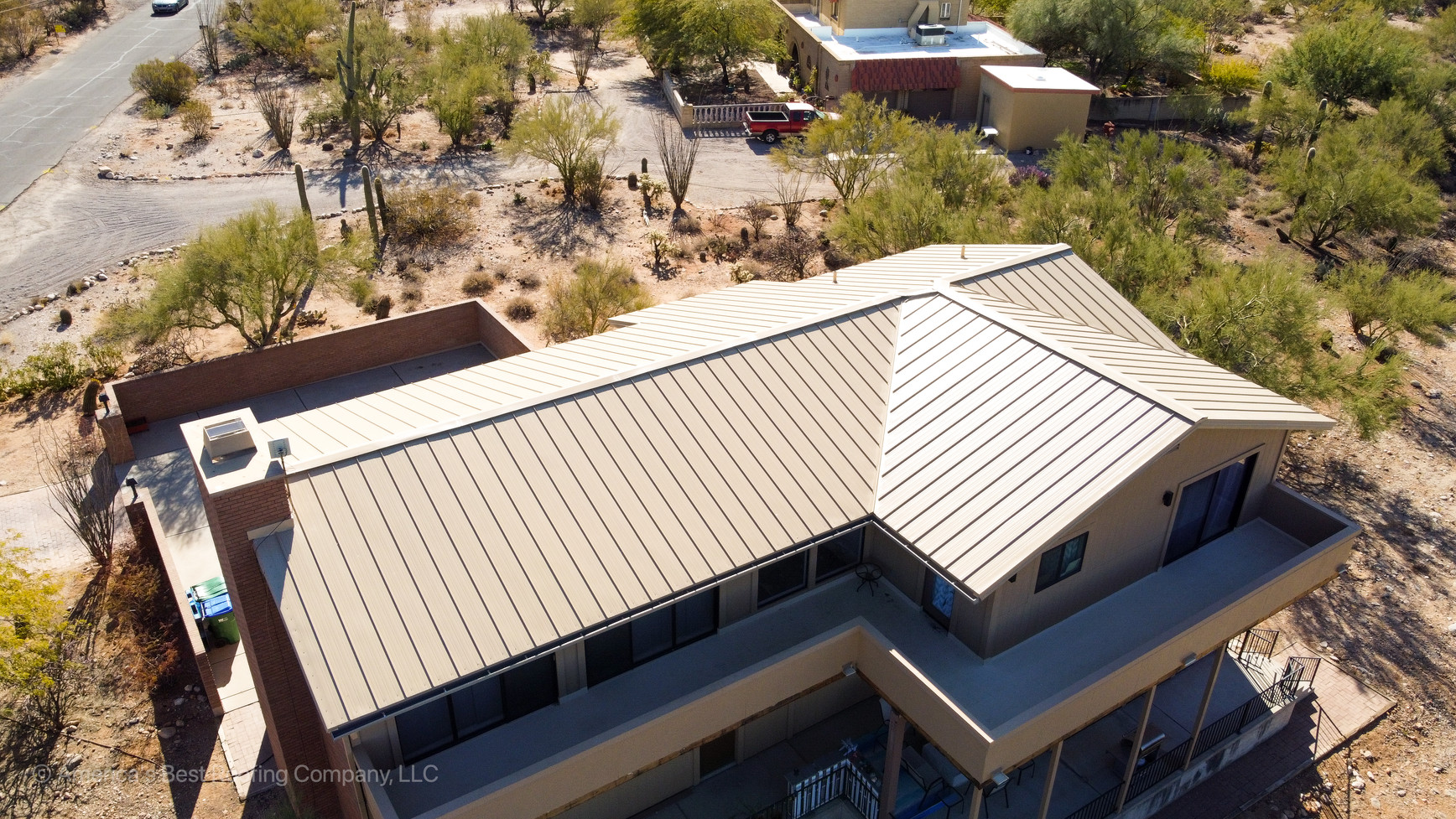 Saddle Tan Metal Roof