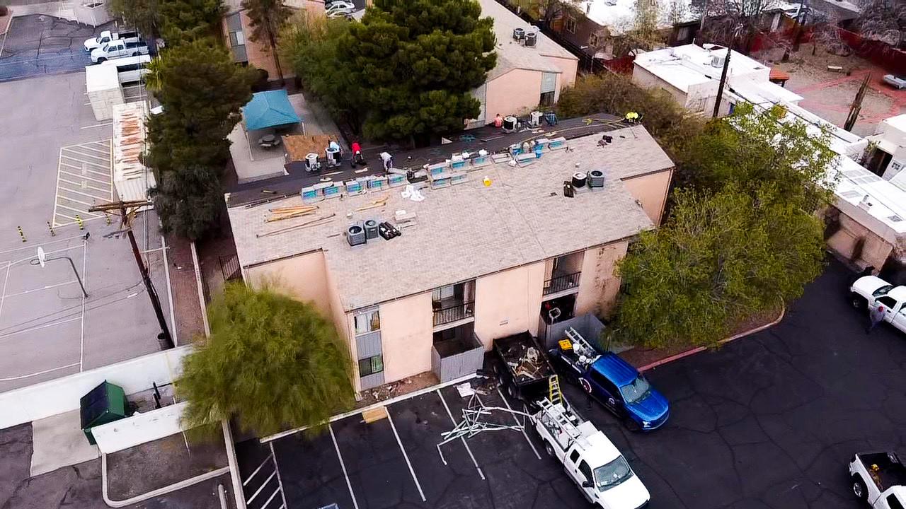 GAF Shingle Apartment Re-Roof