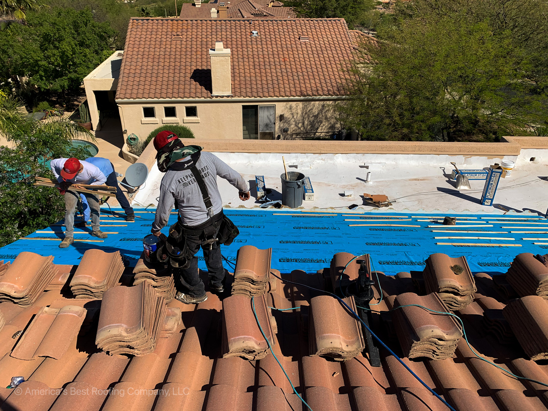 Tile Underlayment Re-Roof