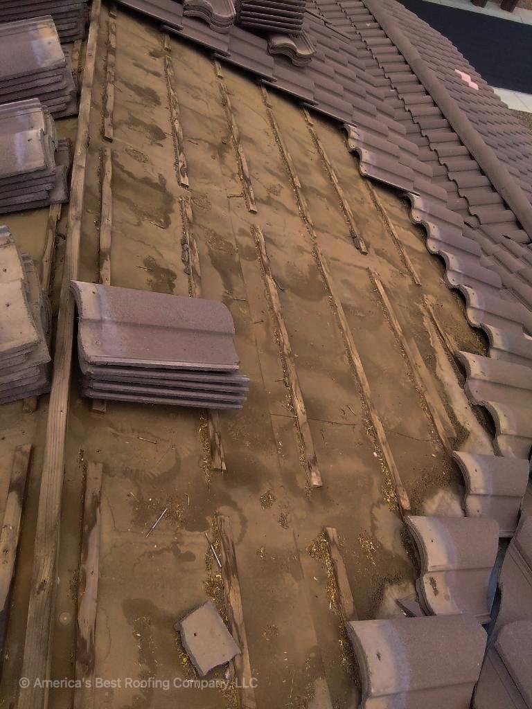 Tile Repair - Before