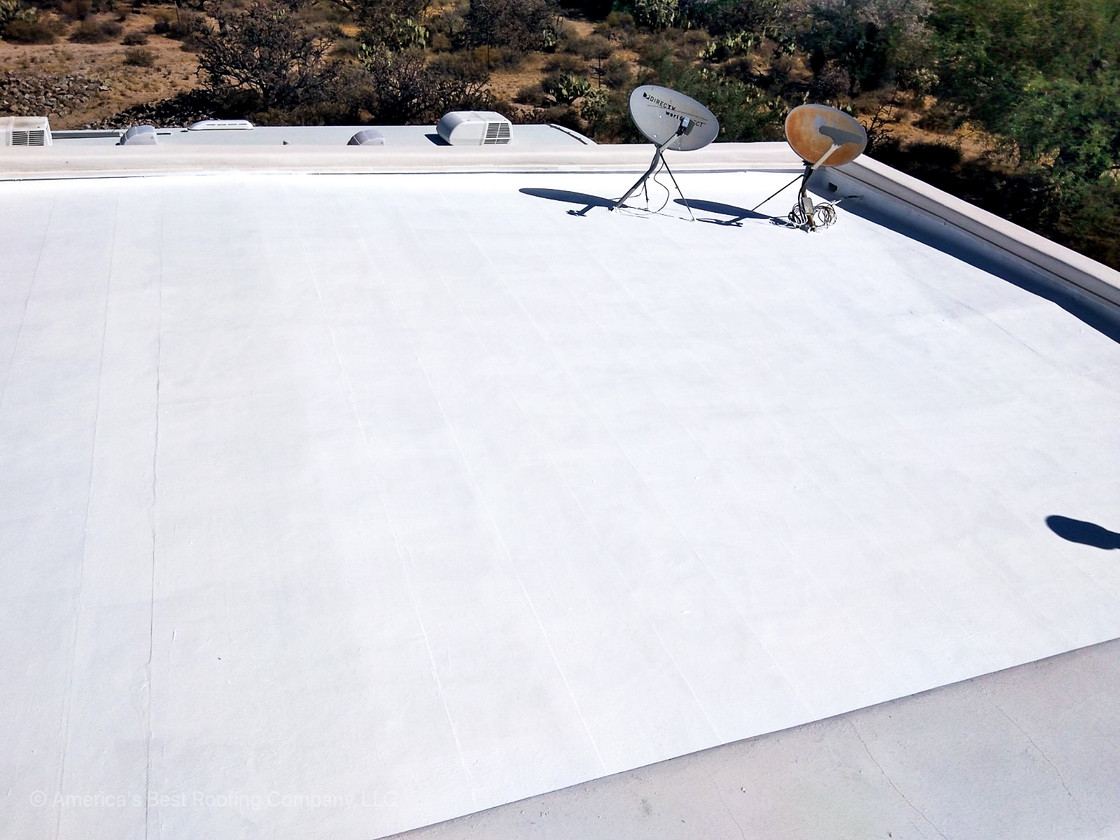 Tile Repair + Flat Roof Coating