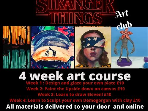 Stranger Things 4 week Art course