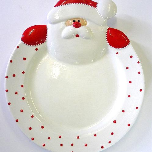 Santa Rimmed Plate 24.1cm D x 29.2cm L
