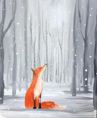 Adults Painting & Prosecco Fox