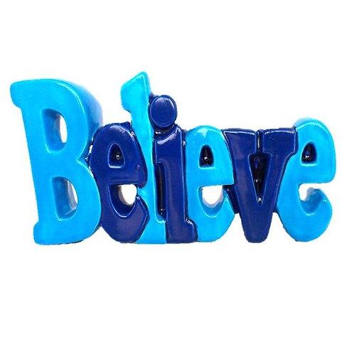 Believe Word Plaque 19.7cm x 10.8cm H