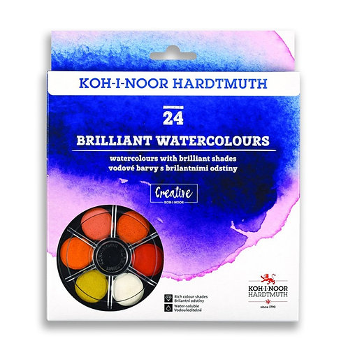 KOH-I-NOOR ANILINKY 24 COLOUR BRILLIANT WATERCOLOUR SET