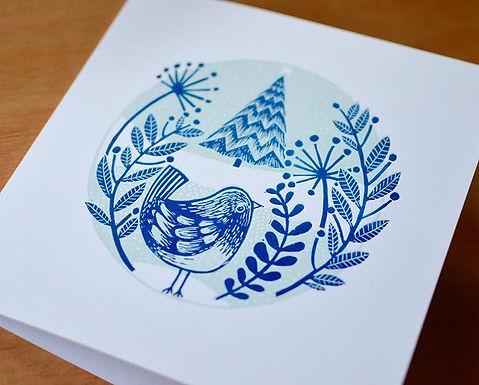Adults Lino Print Christmas Cards