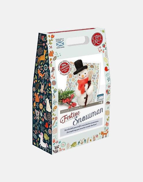 Jolly Snowman Needle Felting Kit