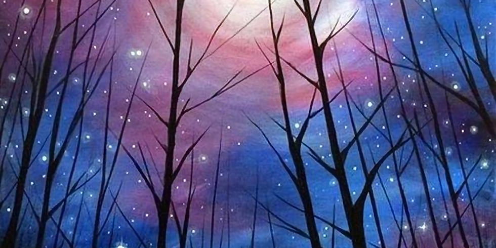 A Night Sky - Painting & Prosecco