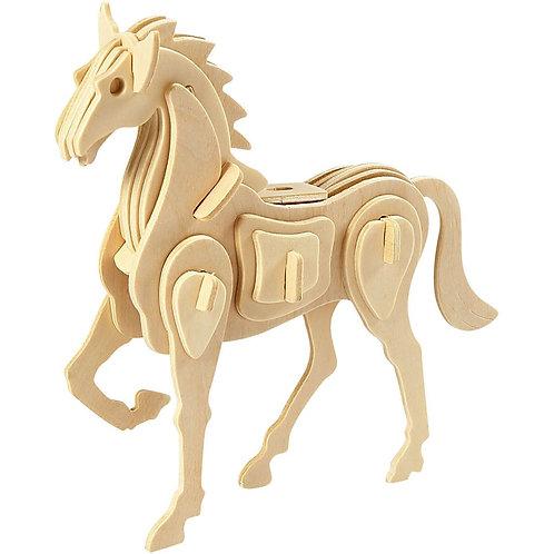Horse 3D Wooden Construction kit