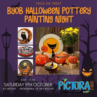 BYOB Halloween Pottery Painting night!