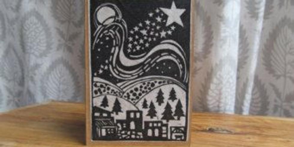 Lino Printing Christmas Cards adult workshop