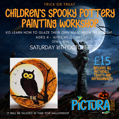 Children's Spooky Pottery Painting workshop