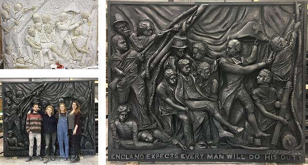 Lifesize Nelson's Column Plaque