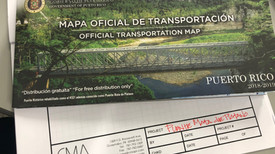Mata de Platano Bridge is in the cover of the Official Transportation Map