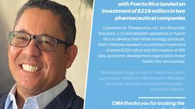 Millionaire investment in Puerto Rico pharmaceutical companies