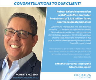 Millionaire investment in Puerto Rico pharmaceutical companies