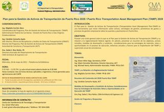 Adiestramiento | Plan para la Gestión de Activos de Transportación de Puerto Rico (TAMP) 2028