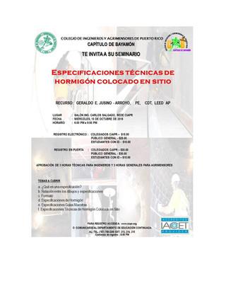 Concrete Specifications Seminar