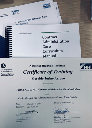 Federal Highway: Contract Administration Core Curriculum