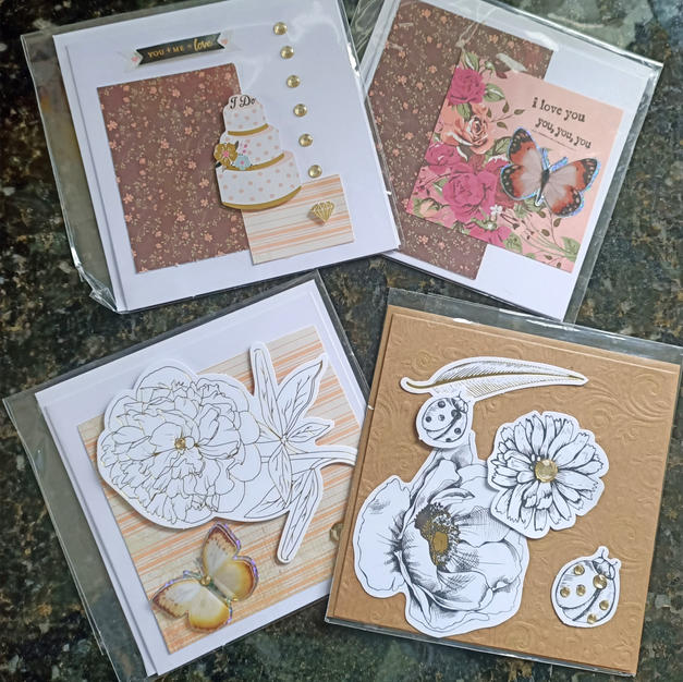 Handmade Gift Cards Assorted designs