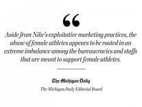 On Nike's hypocritical misogyny