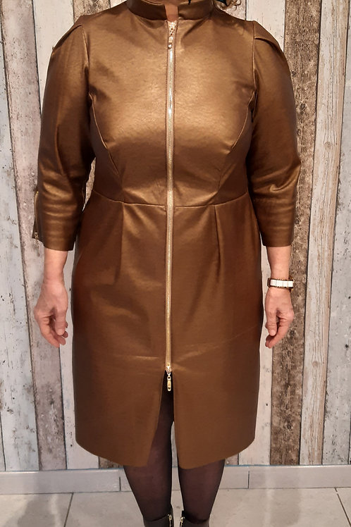 Robe en similicuir Bronze (à partir de)