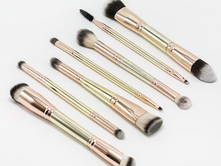Did Someone Say DOUBLE-SIDED GOLD MAKEUP BRUSHES?!?!
