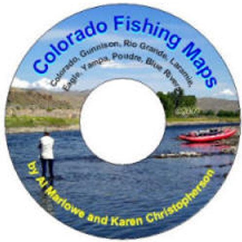 MAP CD: Colorado Fishing Maps