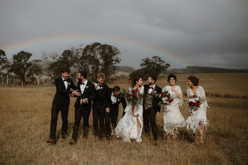 Emma and Pez wedding group