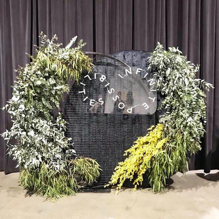 Native foliage backdrop