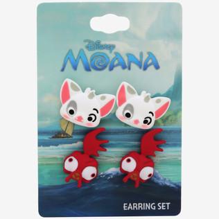 Hot Topic Moana Rubber Earrings Set