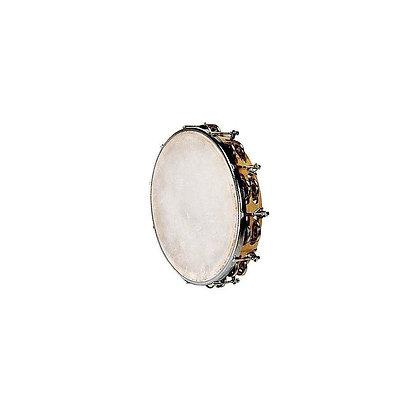 Tamburin z opno iz naravne kože – 25 cm in 9 parov kraguljčkov