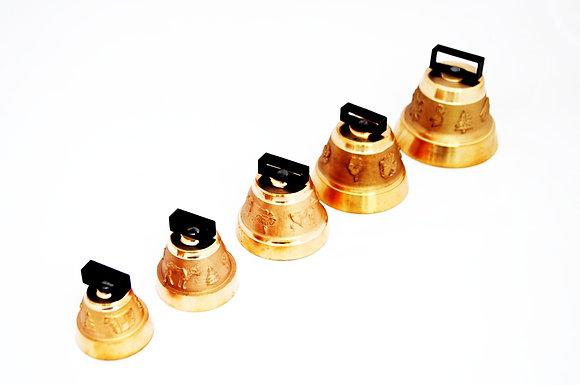 Set petih bronastih zvončkov