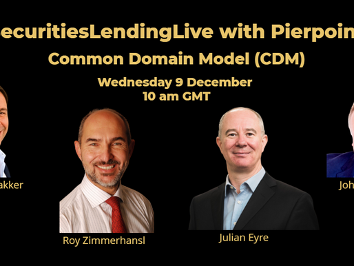 Common Domain Model on #SecuritiesLendingLive with Pierpoint